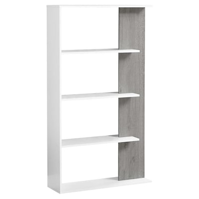 info for 6e8af d5a37 Monarch Specialties White 4-Shelf Bookcase at Lowes.com