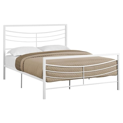 on sale 09b78 fba13 Monarch Specialties White Queen Bed Frame at Lowes.com