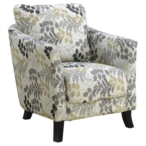 monarch specialties modern beige accent chair in the