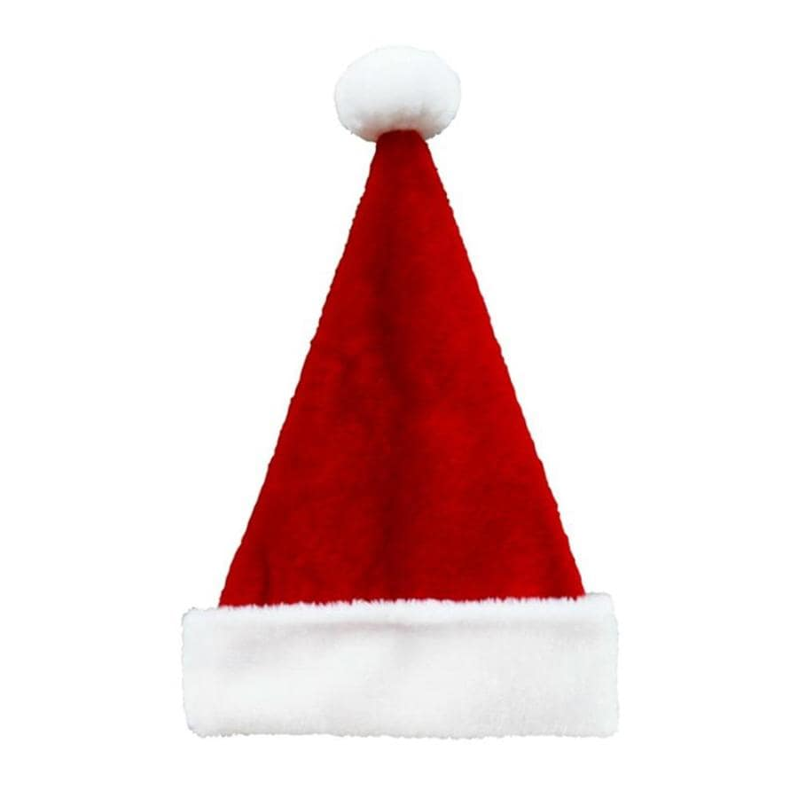 Holiday Living One Size Fits All Velvet Traditional Santa Hat