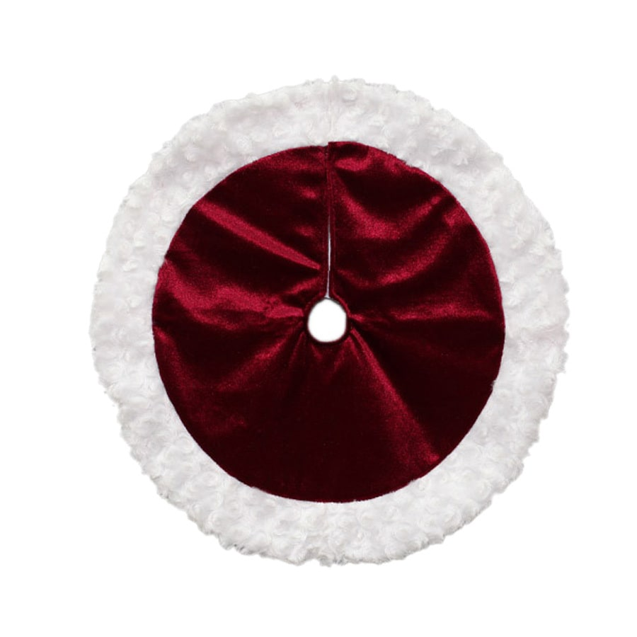 Holiday Living 18-in Red Polyester Traditional Christmas Tree Skirt