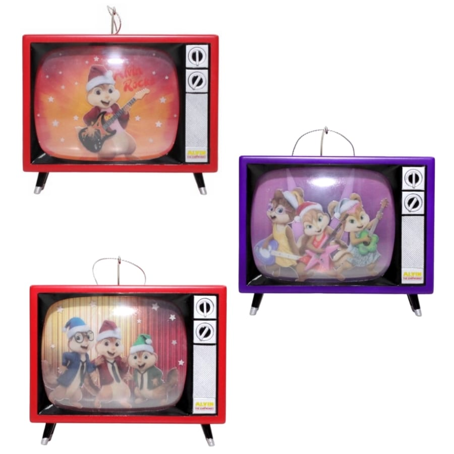 Alvin and The Chipmunks Multicolored Musical Ornament Lights