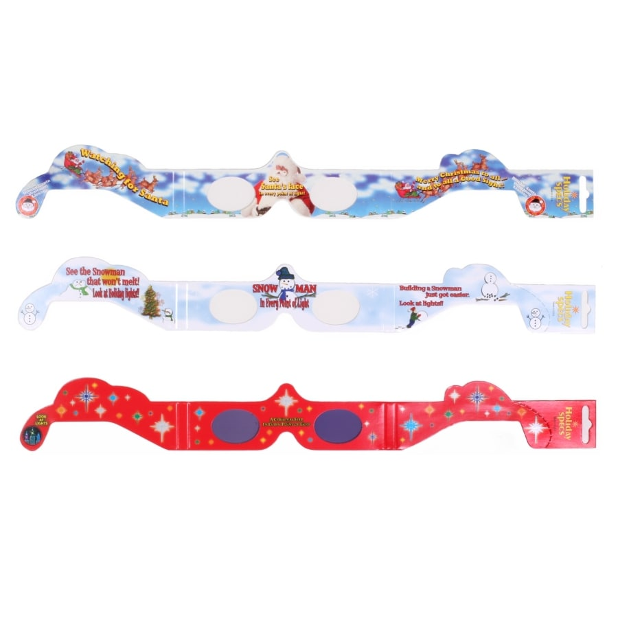 Holiday Living Assorted 3D Christmas Paper Glasses
