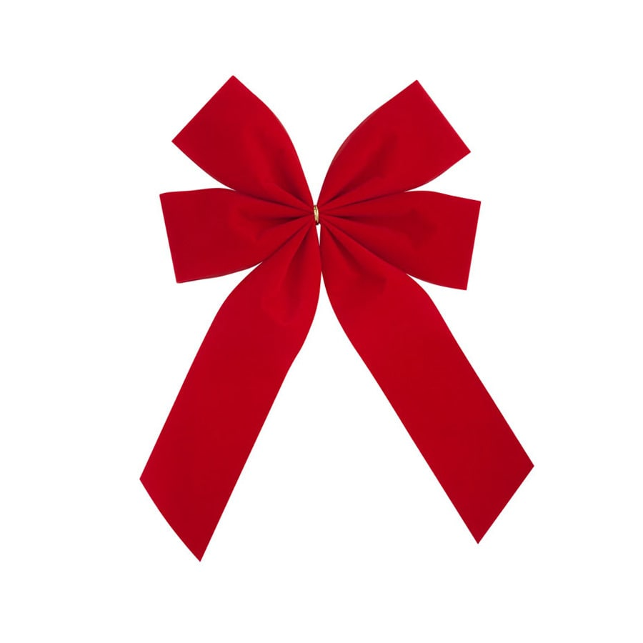 Holiday Living 16-in H x 11-in W Red Solid Bow
