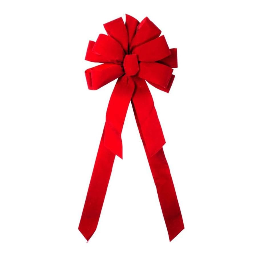 Holiday Living 11-in W Red Solid Bow