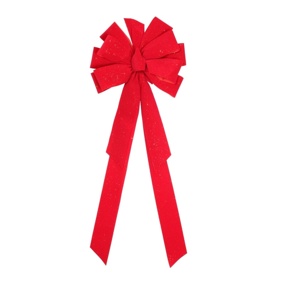 Holiday Living 29-in H x 11-in W Red Solid Bow
