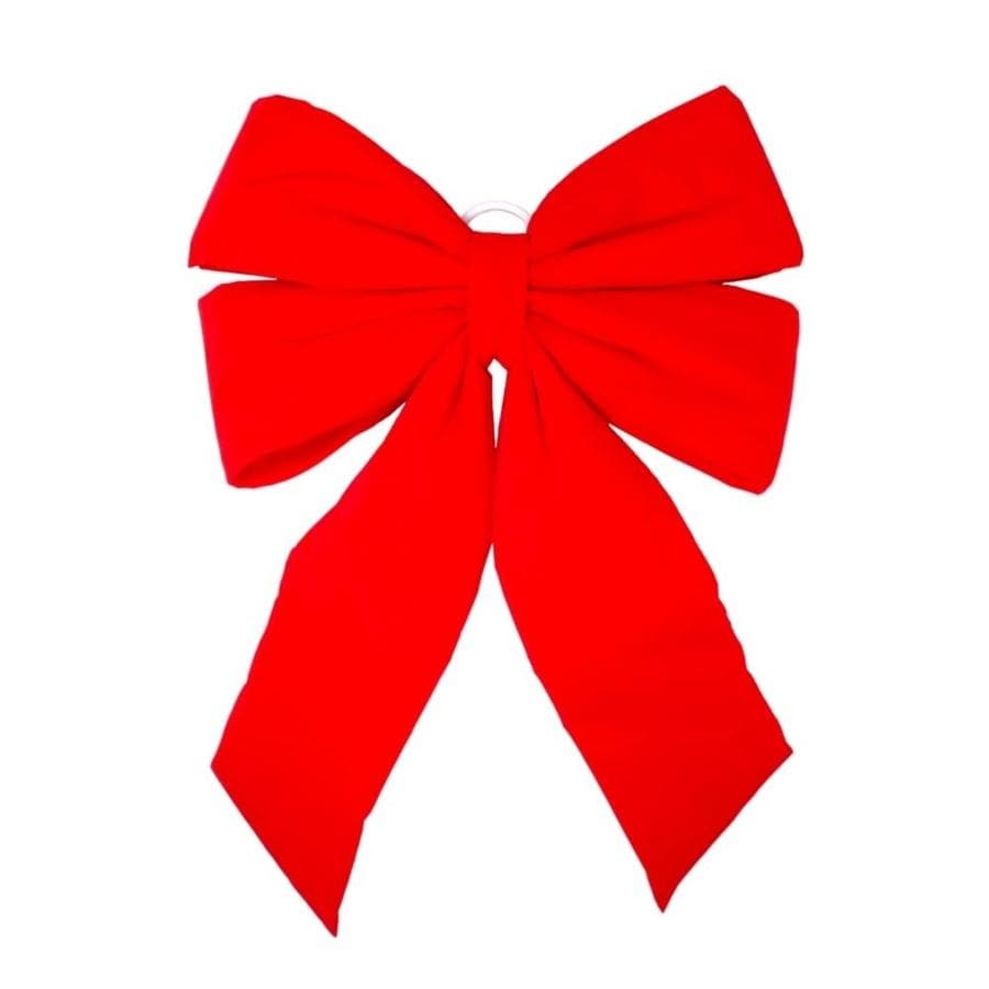 Holiday Living 5-in W Red Solid Bow