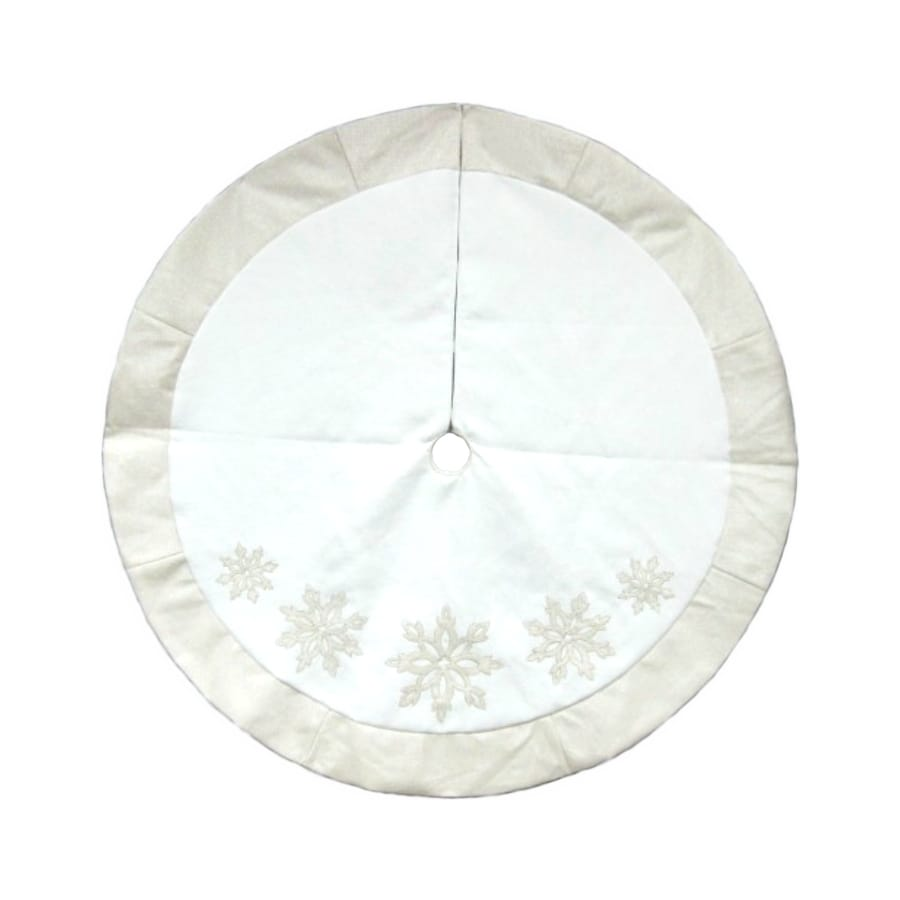 Lowes Christmas Tree Skirts: Allen + Roth 56-in Christmas Tree Skirt At Lowes.com