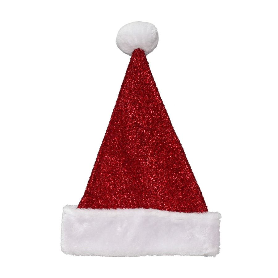 Holiday Living One Size Fits All Tinsel Knit Velvet Traditional Santa Hat
