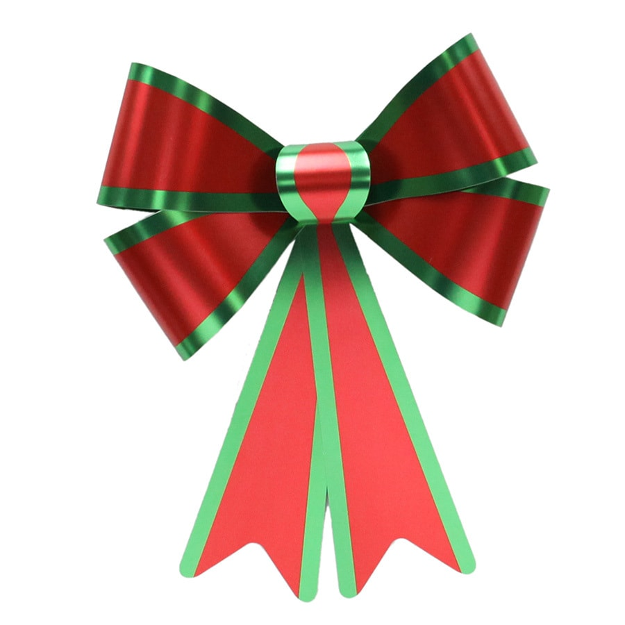 Holiday Living 13-in H x 10-in W Red Solid Bow