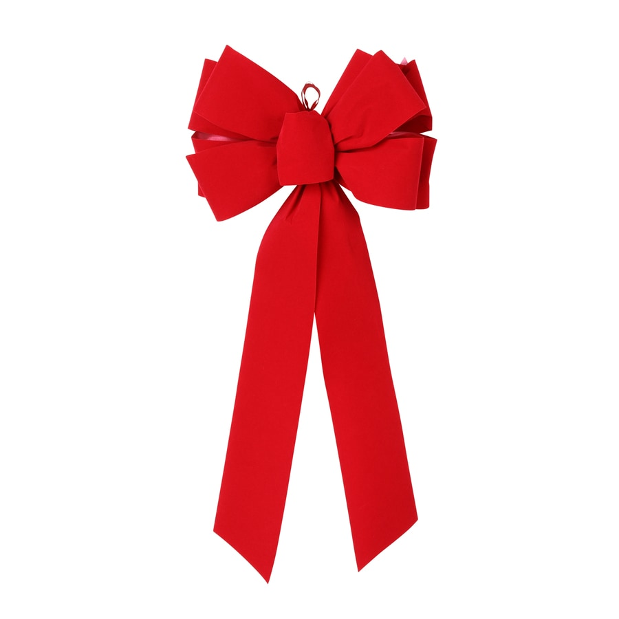 9-in W Red Solid Bow