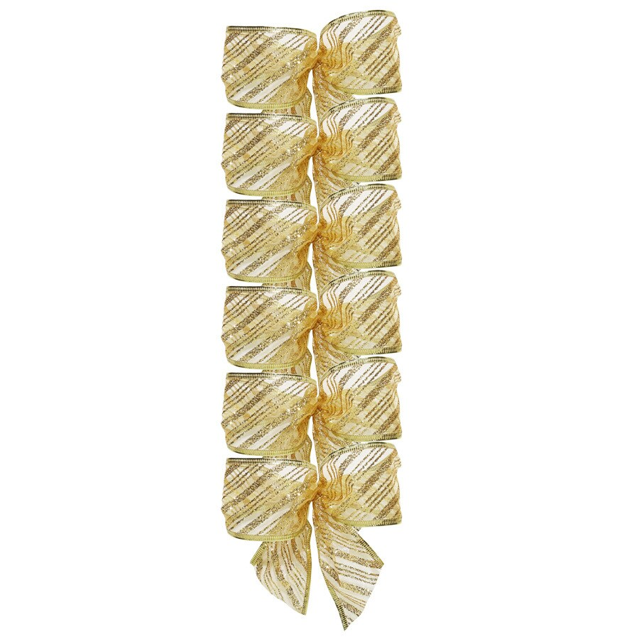 Holiday Living 8-in W Gold Solid Bow