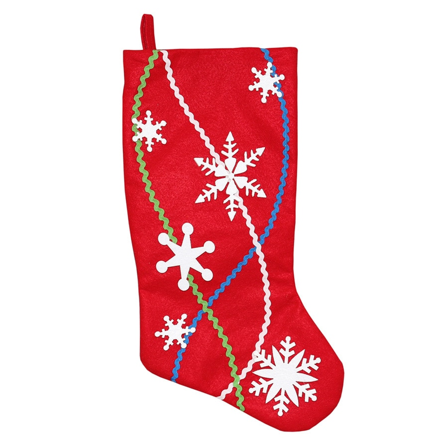Holiday Living 19-in Red Snowflake Christmas Stocking