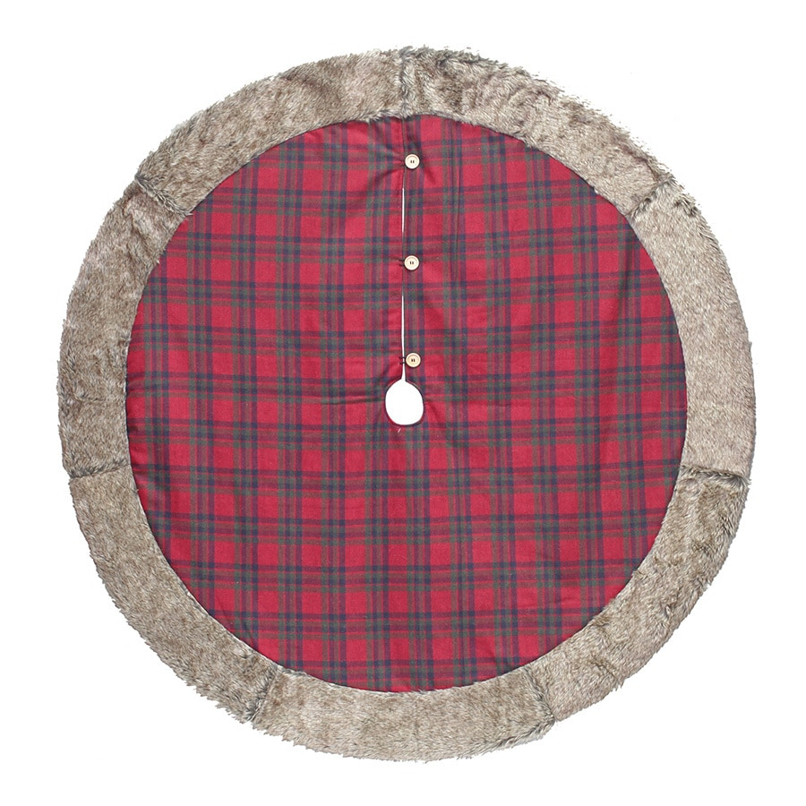 holiday living 56 in red plaid christmas tree skirt