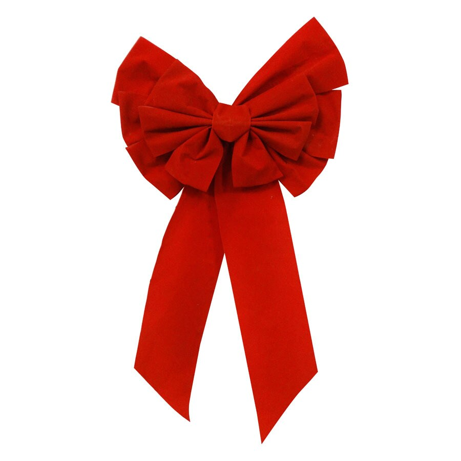 Holiday Living 14-in W Red Solid Bow
