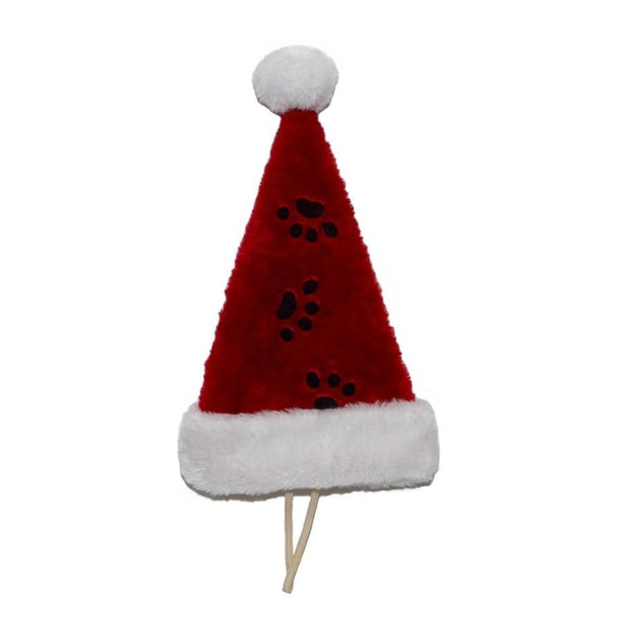 Holiday Living Red Polyester Pet Christmas Hat with Chin Strap