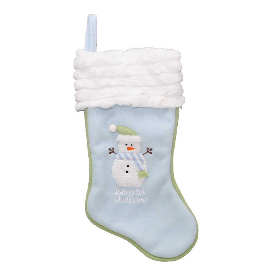 holiday living 16 in blue polyester babys first christmas stocking - Blue Christmas Stockings