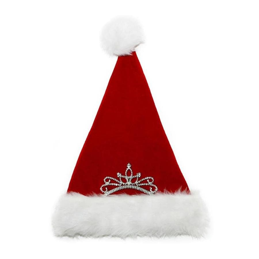 Holiday Living One Size Fits All Velvet Princess Santa Hat