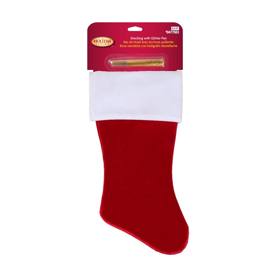 Holiday Living 18-in Red Traditional Christmas Stocking