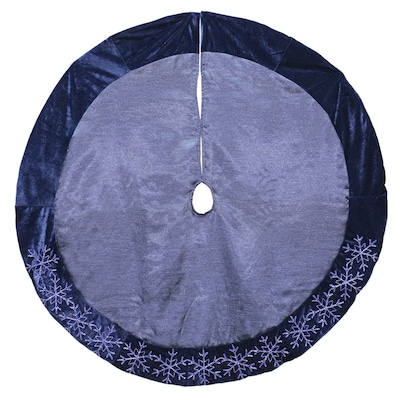 Purple Christmas Tree Skirt.Holiday Living 48 In Blue Polyester Snowflake Christmas Tree