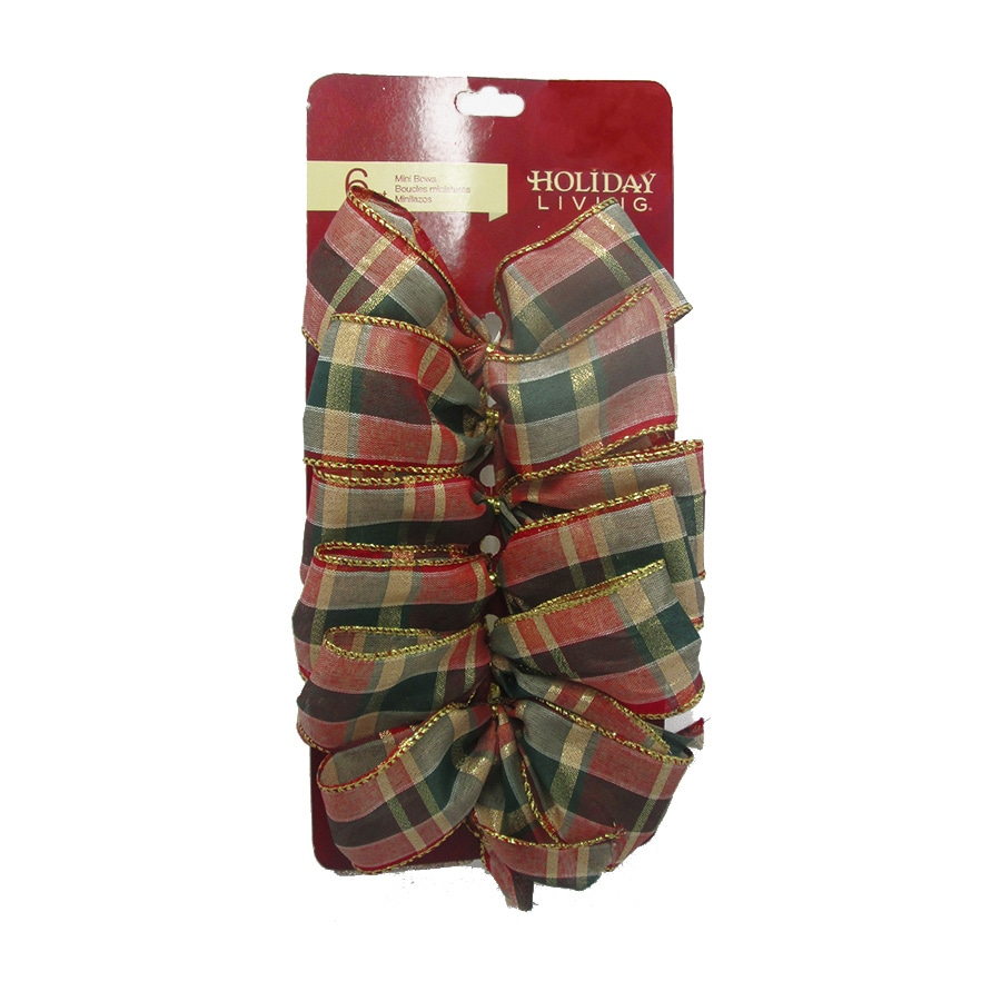 Holiday Living 6-Pack 5-in W Multiple Colors Solid Bows