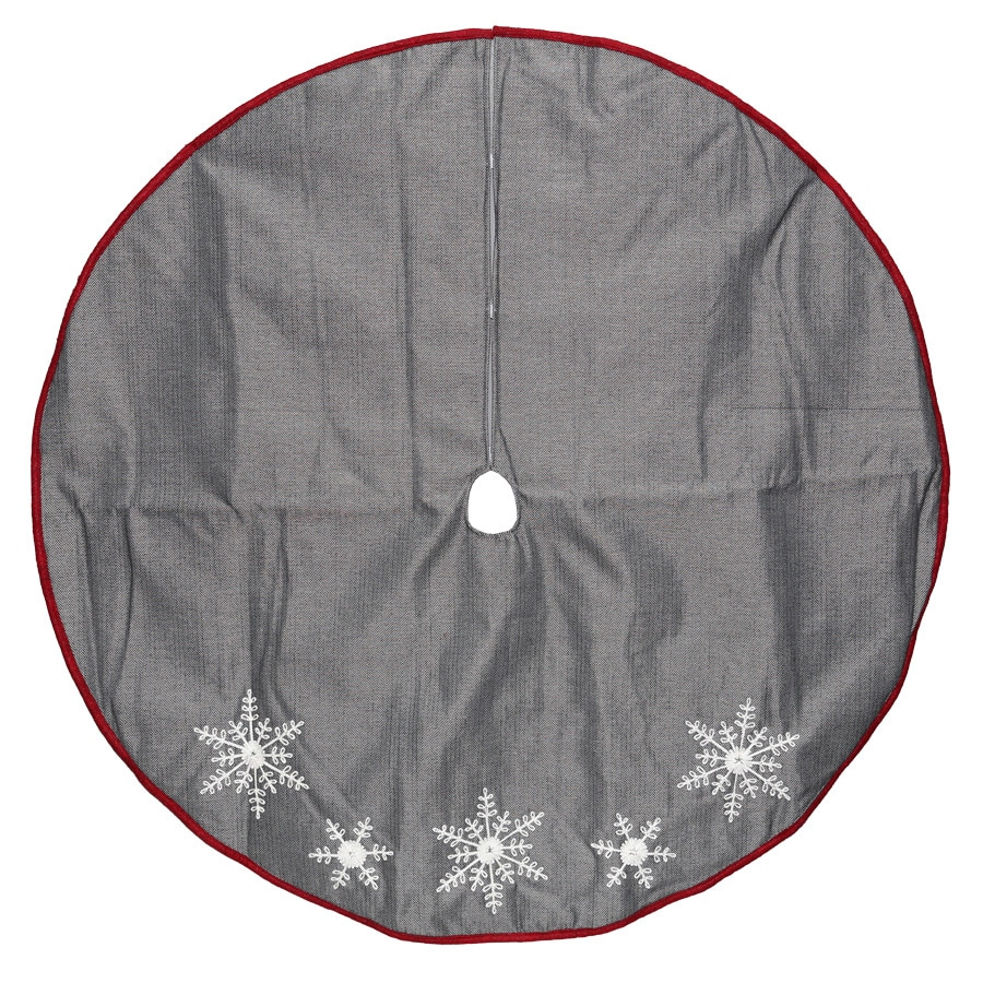 Shop Holiday Living 56-in Black Polyester Snowflake ...