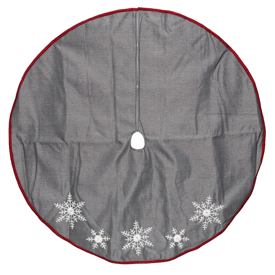 holiday living 56 in black polyester snowflake christmas tree skirt