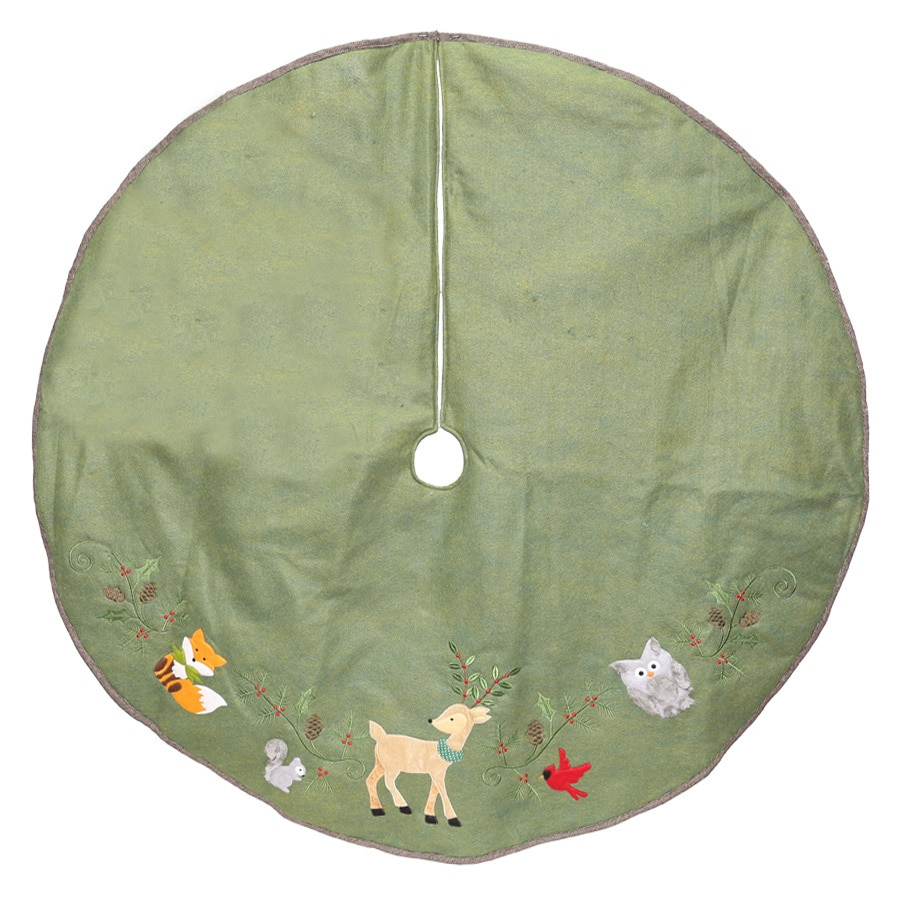 Holiday Living 56-in Green Polyester Traditional Christmas Tree Skirt