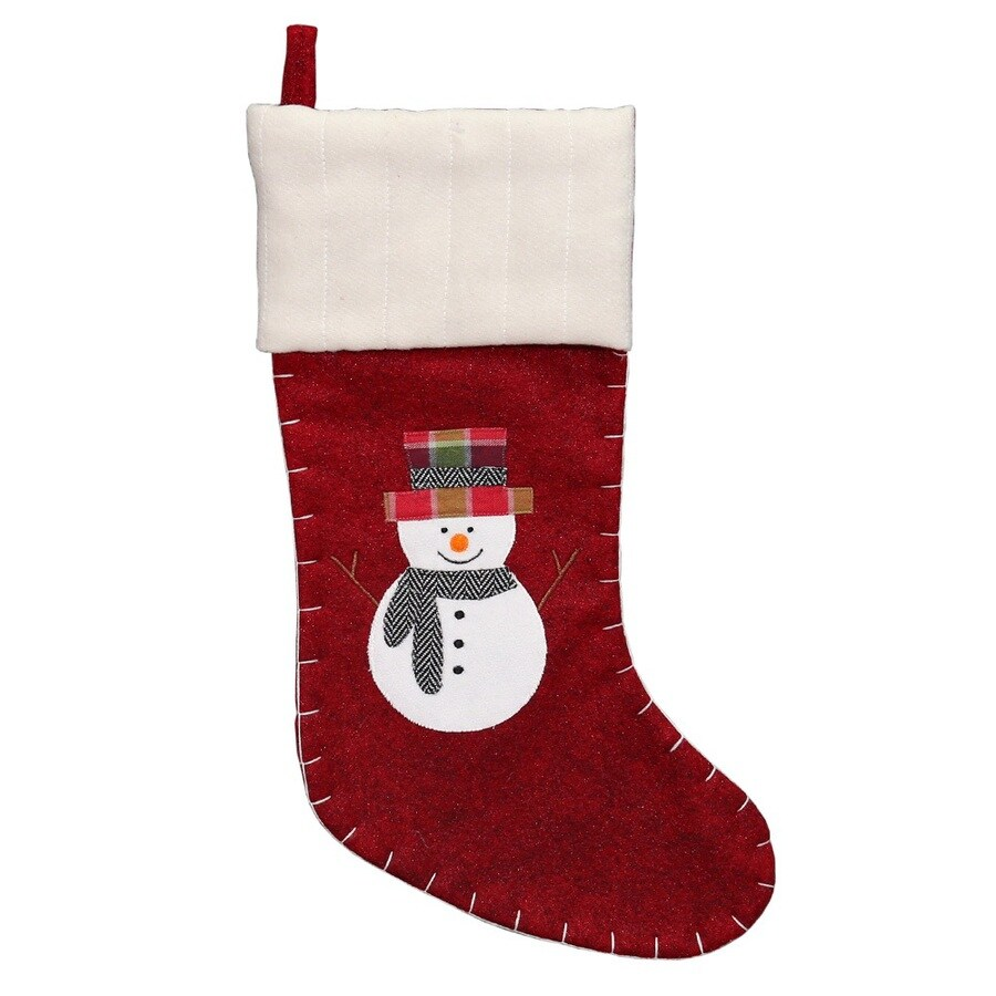 Holiday Living 20-in Off-White Traditional Christmas Stocking
