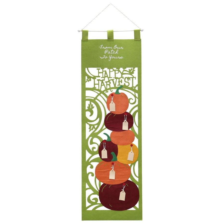 HARVEST Hanging Pumpkin Stack Door Hanger