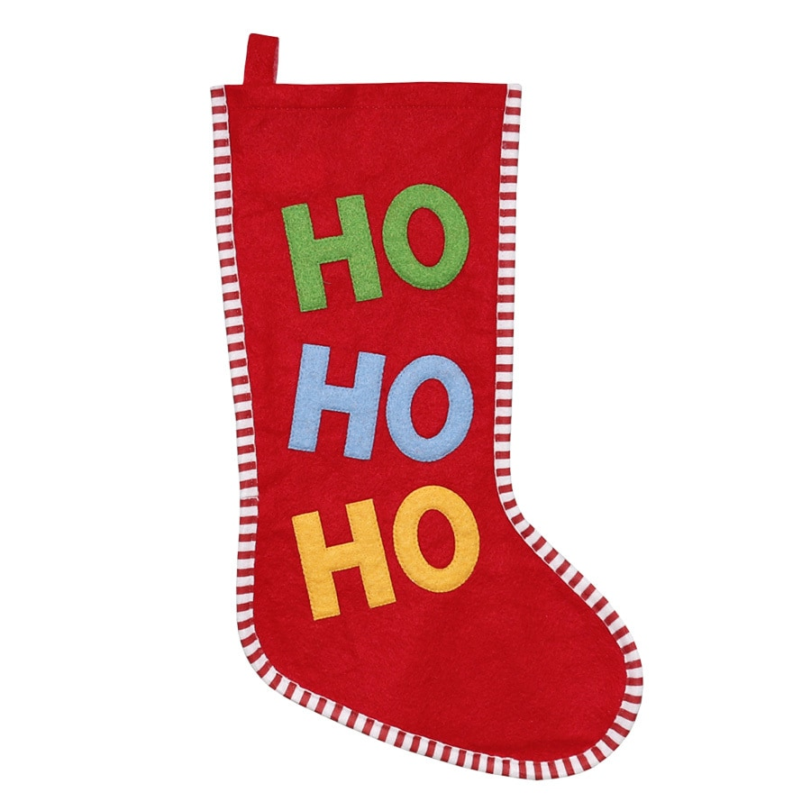Holiday Living 20-in Red Santa Christmas Stocking