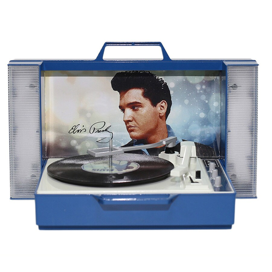 ELVIS Multi Colored Plastic Musical Elvis Ornament Color Changing Incandescent Lights