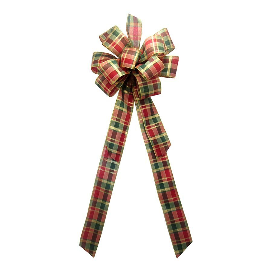 Holiday Living 8-in W Multiple Colors Plaid Bow