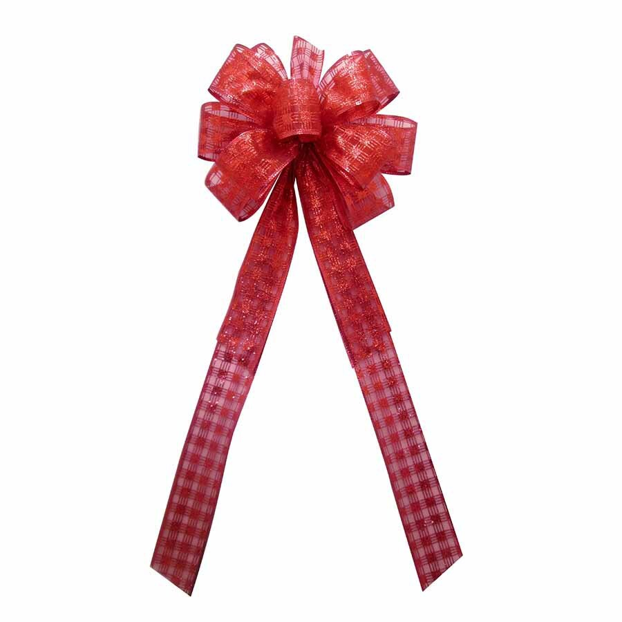 Holiday Living 8-in W Red Metallic Bow