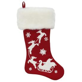 9013a37fbb7 Holiday Living 20-in Red Santa Christmas Stocking