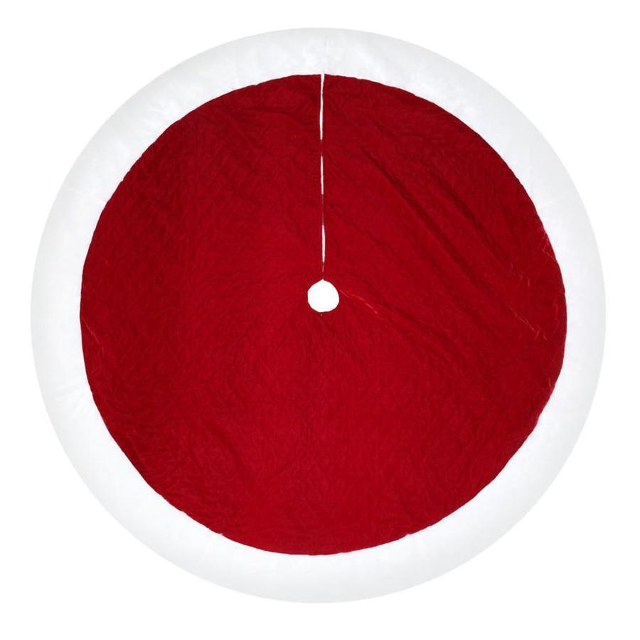 Holiday Living 72-in Red Polyester Traditional Christmas Tree Skirt