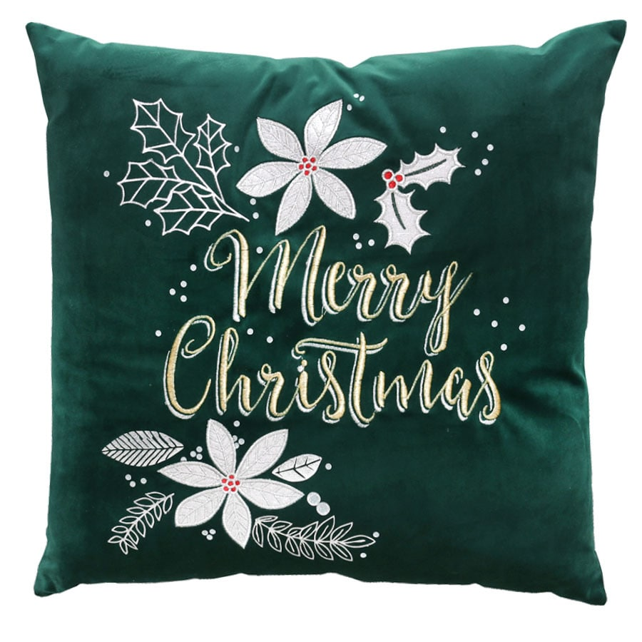 holiday living merry christmas pillow