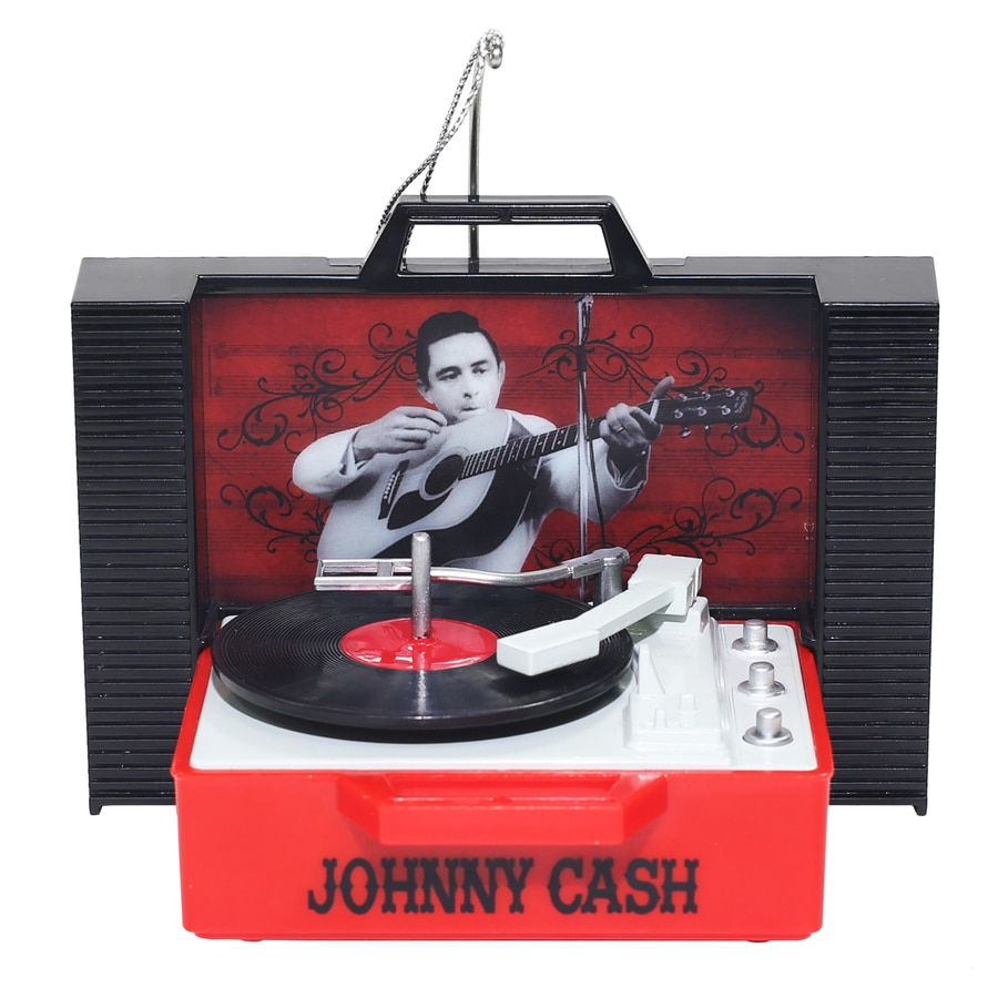 Johnny Cash Multicolored Musical Ornament Color Changing LED lights