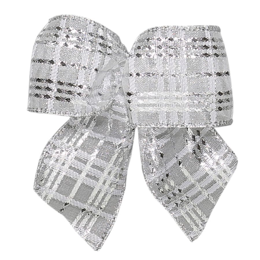 Holiday Living 6-Pack 5-in W x 5-ft L Silver glittered Sheer Bow
