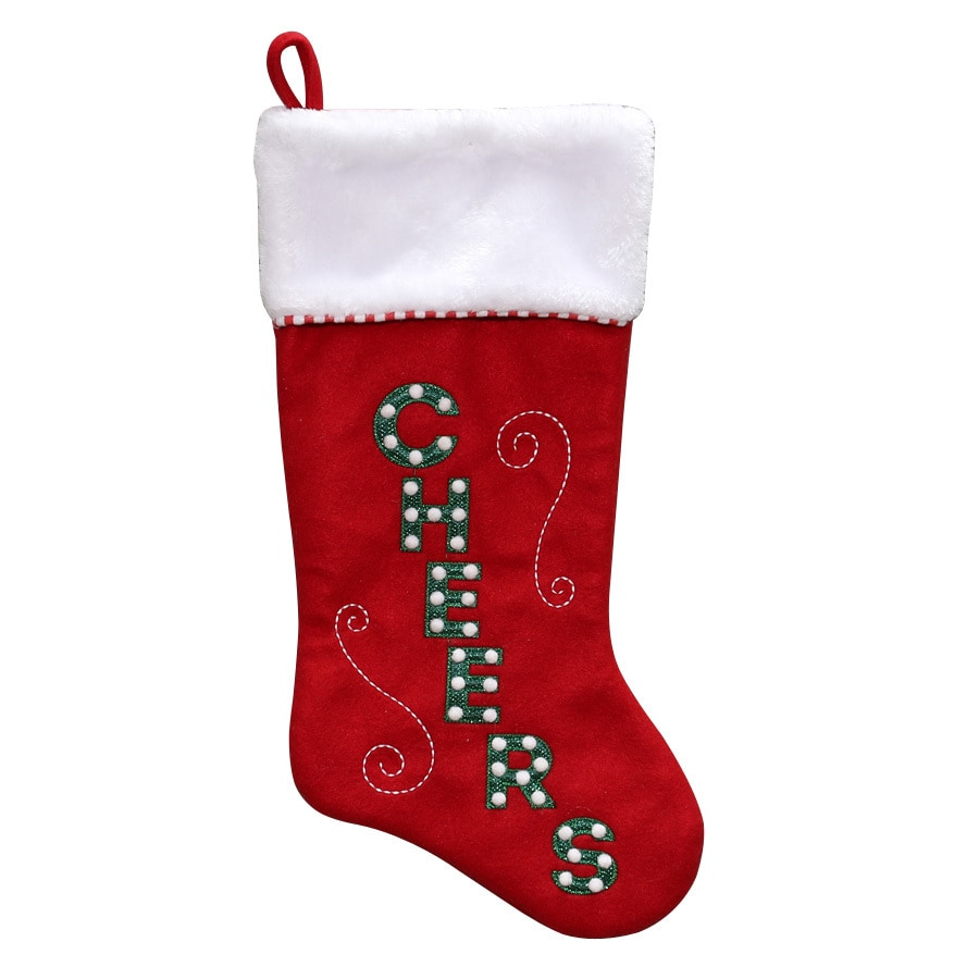 Holiday Living 19-in Red Traditional Christmas Stocking