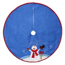 holiday living inches christmas tree skirt - Blue Christmas Tree Skirt
