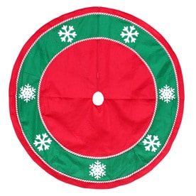 holiday living 48 in red felt traditional christmas tree skirt - Christmas Tree Skirts