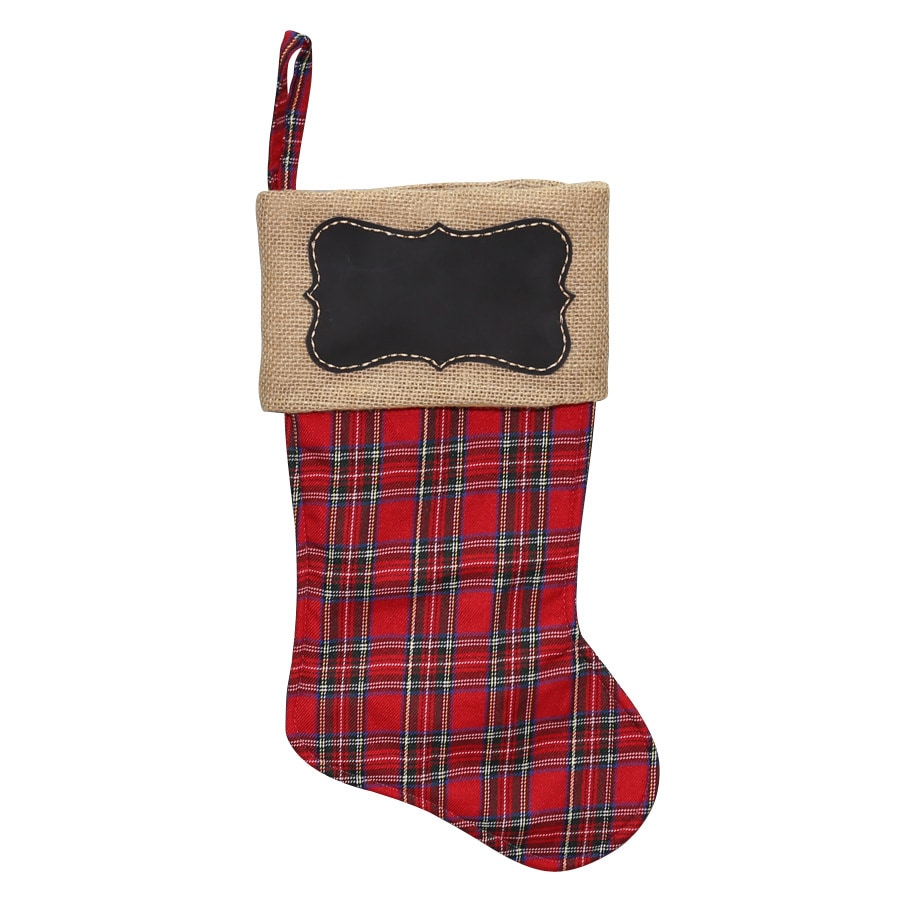 Holiday Living 17-in Multiple Colors Plaid Christmas Stocking