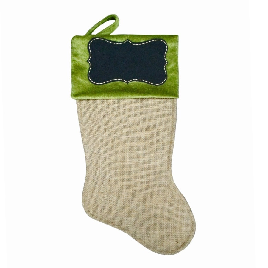 Holiday Living 17-in Green Traditional Christmas Stocking