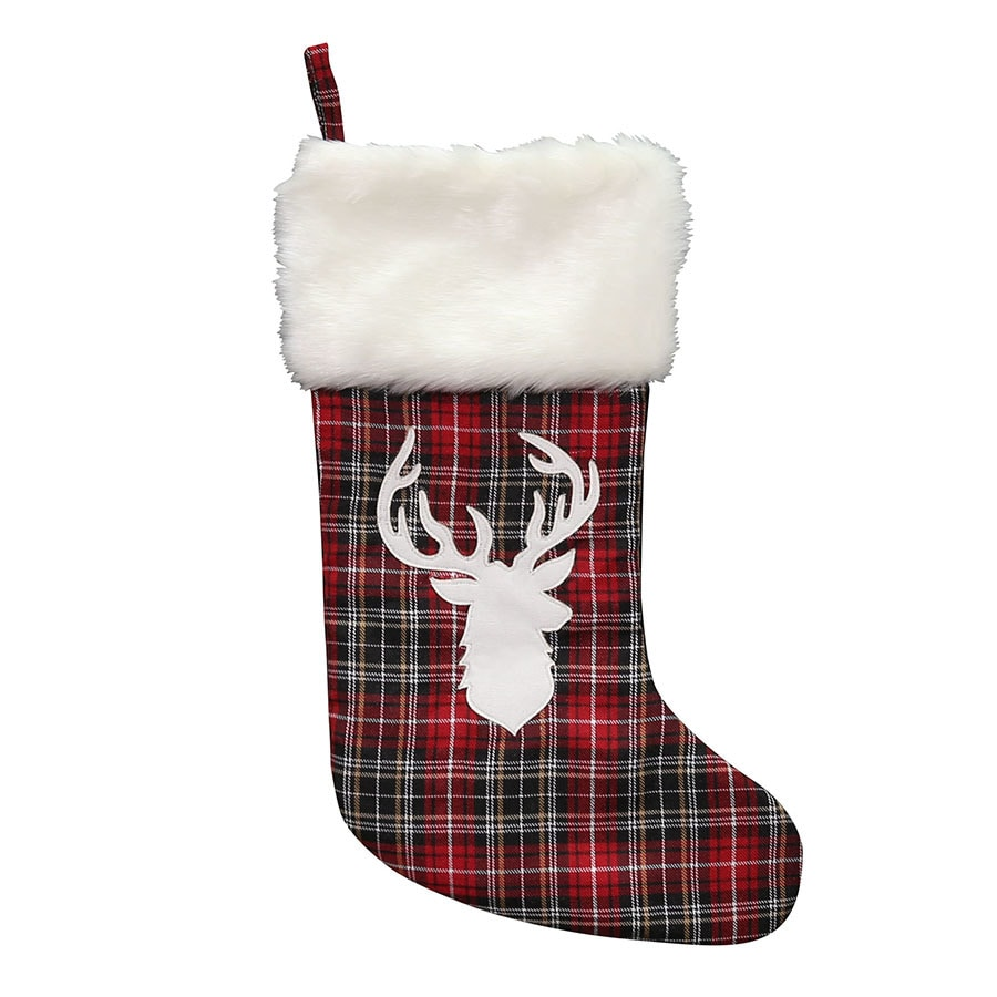 holiday living 18 in multiple colors plaid christmas stocking - Plaid Christmas Stockings