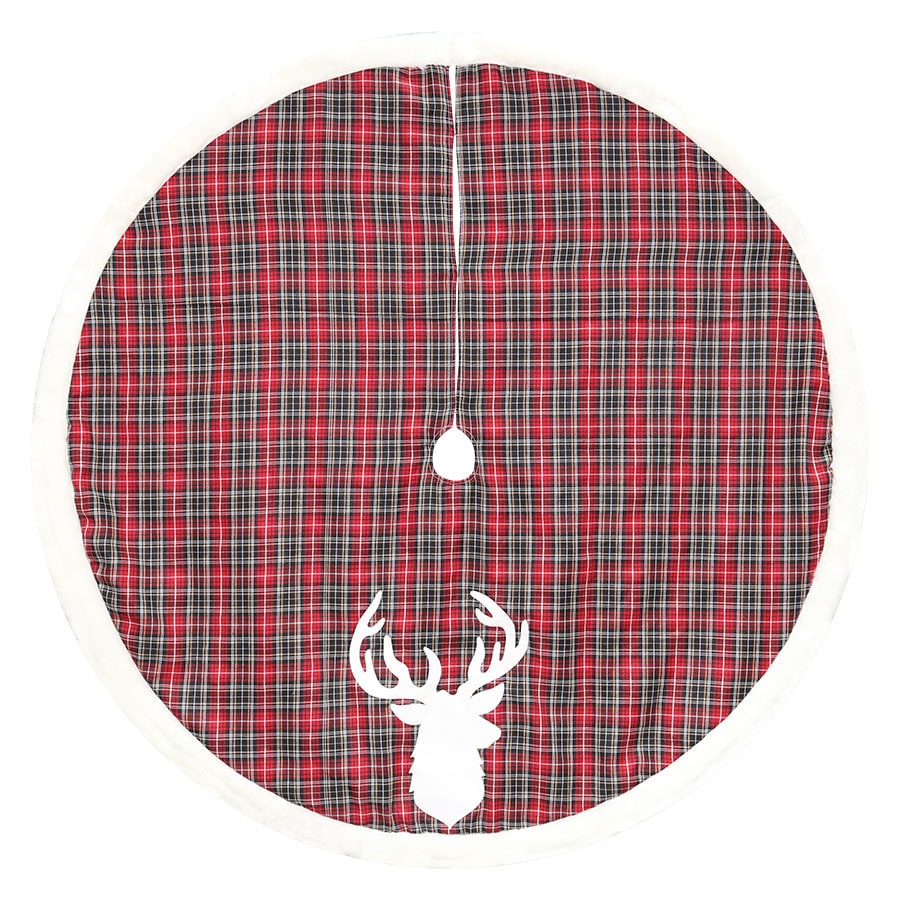 Lowes Christmas Tree Skirts: Holiday Living 56-in Polyester Deer Christmas Tree Skirt