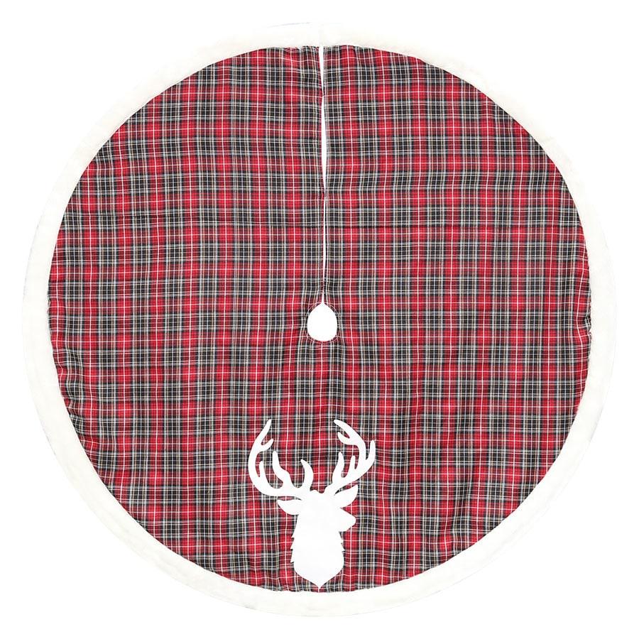 Holiday Living 56-in Polyester Deer Christmas Tree Skirt