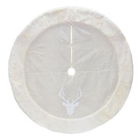 holiday living 56 in off white polyester deer christmas tree skirt - White Christmas Tree Skirts
