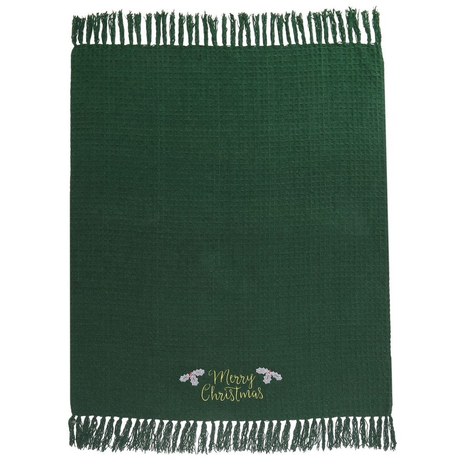 Holiday Living Merry Christmas Blanket
