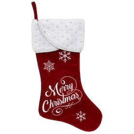 Red Christmas Stocking.Christmas Stockings At Lowes Com